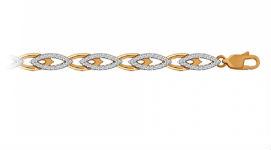 Золотые браслеты с фианитами