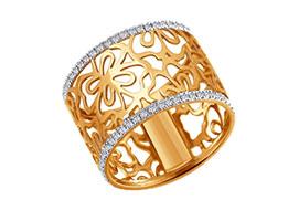 Широкие и крупные золотые кольца