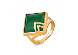 Золотые кольца с жадеитом