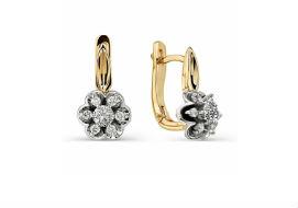 Золотые серьги с драгоценными камнями
