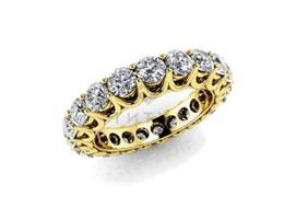 Обручальные кольца с муассанитами