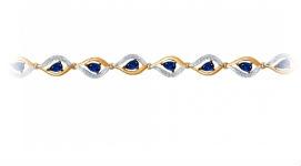 Золотые браслеты с корундами