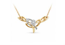 Золотые колье с бриллиантами