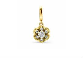 Золотые подвески с драгоценными камнями