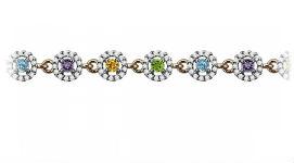 Золотые браслеты с цветными камнями