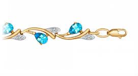 Золотые браслеты с топазами
