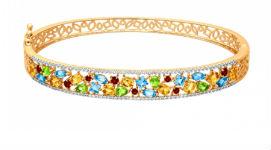 Жесткие золотые браслеты