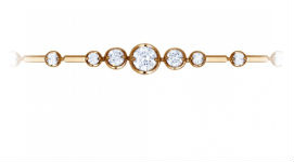 Золотые браслеты с синтетическими вставками