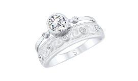 Серебряные кольца с горным хрусталем