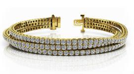 Золотые браслеты с муассанитами