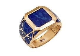 Золотые мужские кольца с полудрагоценными камнями