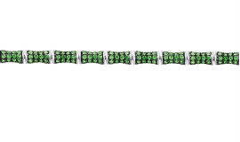 Золотые браслеты с цаворитами