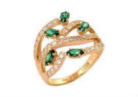 Золотые кольца с алпанитом