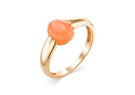 Золотые кольца с лунным камнем