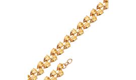 Золотые браслеты с султанитом