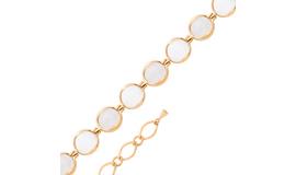 Золотые браслеты с лунным камнем