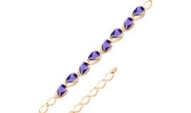 Золотые браслеты с иолитом
