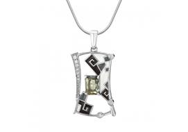 Серебряные подвески с ювелирным кристаллом