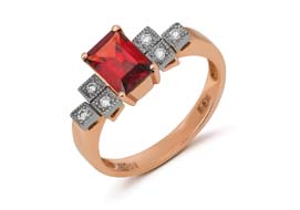 Золотые кольца с альмандином