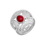 Серебряные кольца с сердоликом