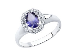 Серебряные кольца с иолитом