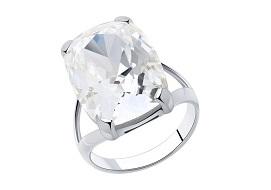 Серебряные кольца с кристаллами Swarovski