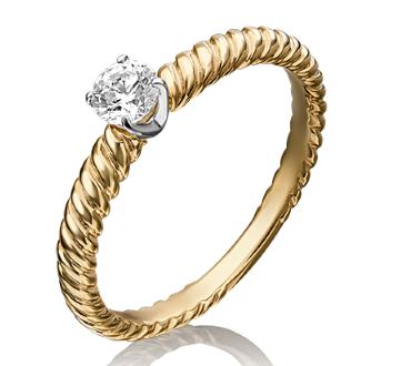 Золотые помолвочные кольца со сваровски