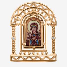 Золотые предметы интерьера и иконы