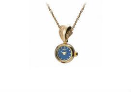 Золотые часы подвески (кулоны)