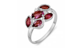 Серебряные кольца с родолитами