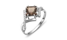 Серебряные кольца с раухтопазами