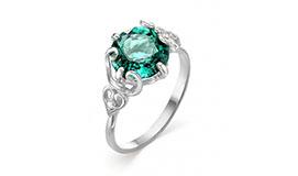 Серебряные кольца с ситаллом