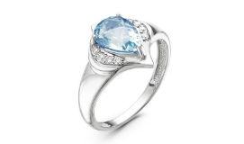 Серебряные кольца с ювелирным стеклом