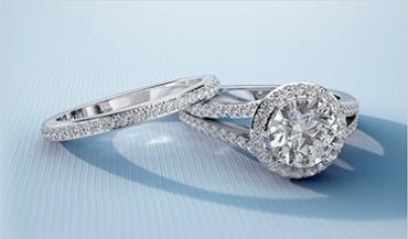 Премиальные комплекты золотых помолвочных и обручальных колец с бриллиантами