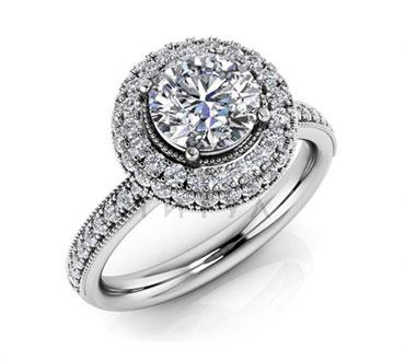 Помолвочные кольца с муассанитами