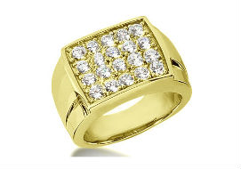Золотые перстни и мужские кольца с муассанитами