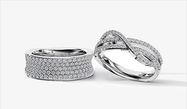 Премиальные модные кольца из золота с бриллиантами