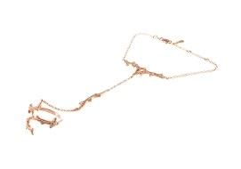Золотые кольца-браслеты