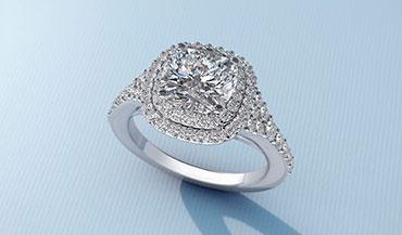 Премиальные золотые помолвочные кольца c бриллиантами