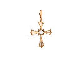 Золотые крестики с жемчугом