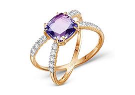 Золотые кольца с александритом