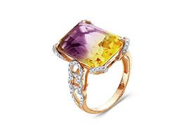 Золотые кольца с аметрином
