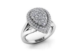 Кольца с искусственными камнями