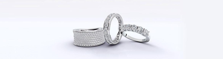 Премиальные золотые обручальные и юбилейные кольца с бриллиантами