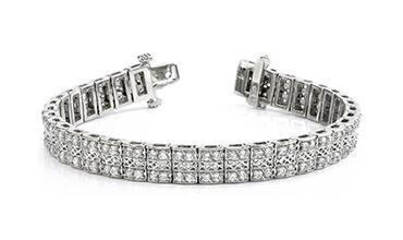 Премиальные широкие браслеты из золота с бриллиантами