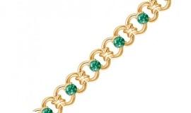 Золотые браслеты со шпинелью