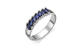 Серебряные кольца с гидротермальными сапфирами