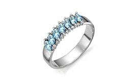 Серебряные кольца с топазами