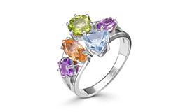 Серебряные кольца с цветными камнями