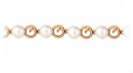 Золотые браслеты с жемчугом